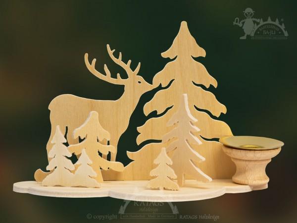 Tischschmuck Hirsch, Deko, Weihnachten, echt Erzgebirge