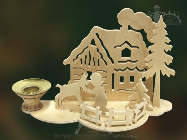 Tischschmuck Maedchen, Deko, Weihnachten, echt Erzgebirge