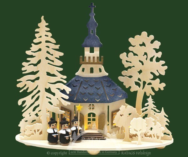 Kirche zu Seiffen, Kurrendefiguren, farbige Dächer