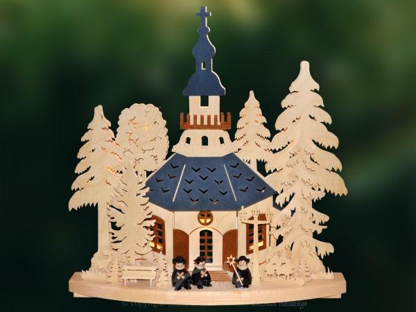 3D-Schwibbogen Kirchgang in Seiffen, Deko, echt Erzgebirge