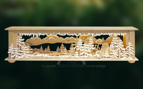 Raumleuchte Wald, Deko, Weihnachten, echt Erzgebirge