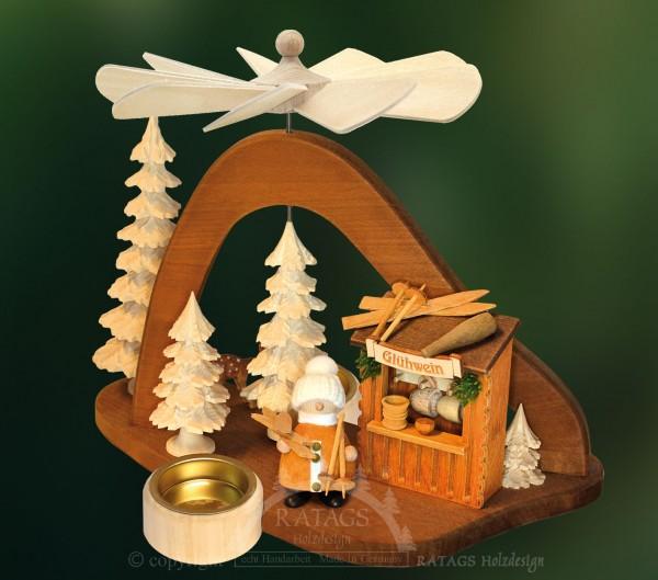 Massivholzpyramide, Deko, Weihnachten, echt Erzgebirge