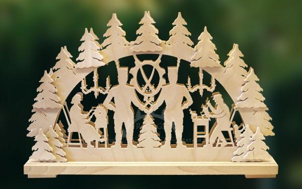 Schwibbogen Bergmann klein, Weihnachten, echt Erzgebirge