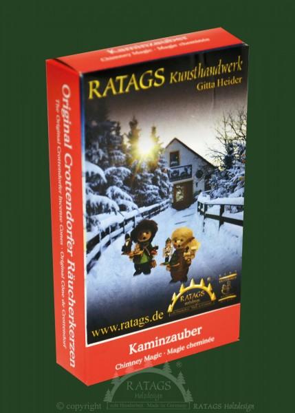 Raeucherkerzen, Kaminzauber, Weihnachten, echt Erzgebirge