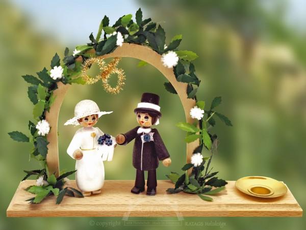Tischschmuck Hochzeit, Deko, echt Erzgebirge