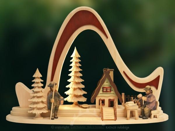Massivholzbogen, Deko, Weihnachten, echt Erzgebirge