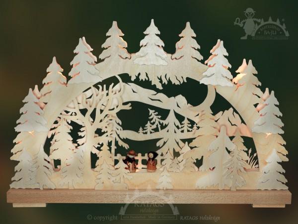 Schwibbogen Bergwanderung, Weihnachten, echt Erzgebirge