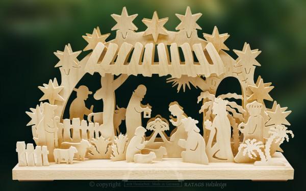 Schwibbogen Christuskind, Weihnachten, echt Erzgebirge, Deko