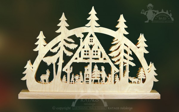 Schwibbogen Weihnachtsstube, Deko, echt Erzgebirge
