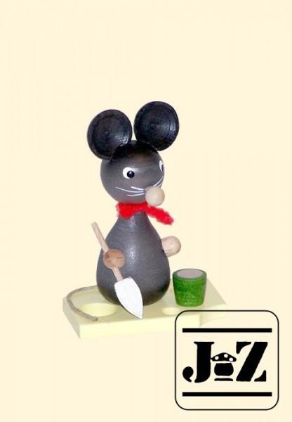 Maus mit Schaufel und Eimer
