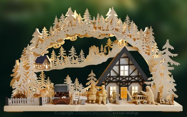 3D-Schwibbogen Grillabend, echt Erzgebirge