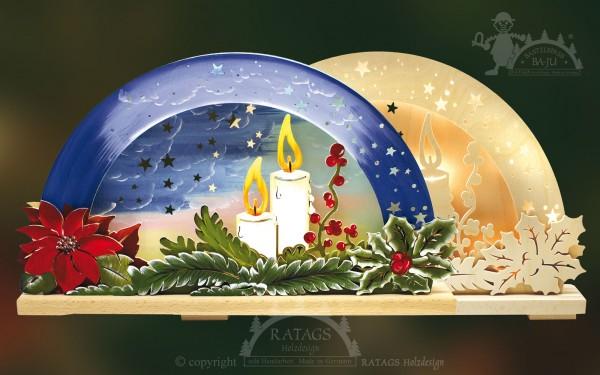 Schwibbogen Lichterschein Deko Weihnachten, echt Erzgebirge