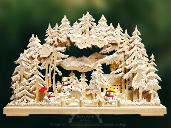 Schwibbogen Winter, Deko, Weihnachten, echt Erzgebirge