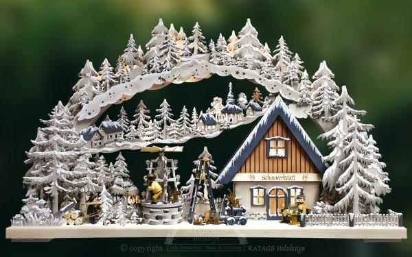 Schwibbogen Schauwerkstatt, Weihnachten, echt Erzgebirge