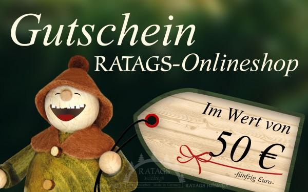 Onlinegutschein RATAGS Onlineshop, 50 Euro