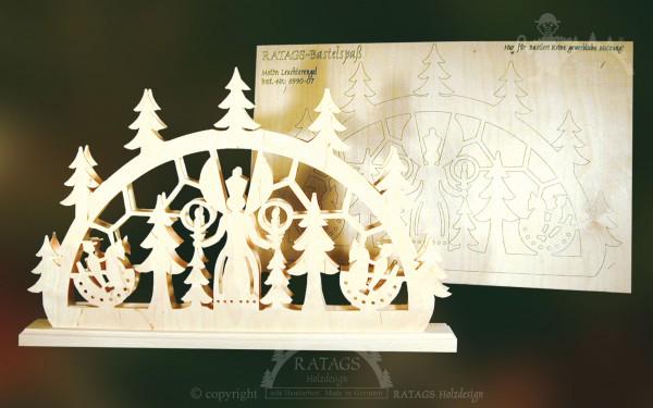 Schwibbogen Leuchterengel, Weihnachten, echt Erzgebirge