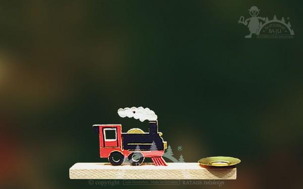 Tischschmuck Lokomotive, Deko Weihnachten, echt Erzgebirge