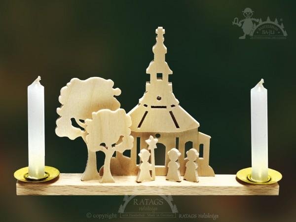 Tischschmuck Kirche Seiffen, Weihnachten, echt Erzgebirge