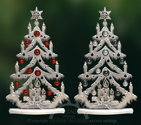 beleuchtete Kugeltanne, Deko, Weihnachten, echt Erzgebirge