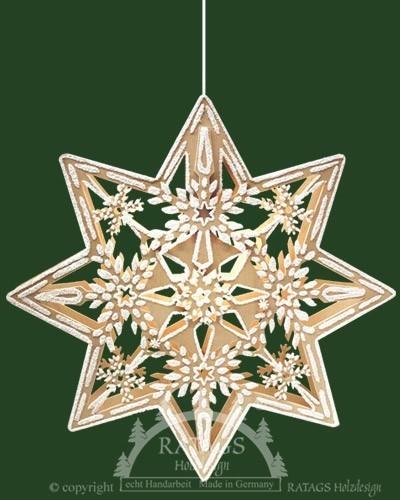 beleuchtetes Fensterbild Stern, Weihnachten, echt Erzgebirge
