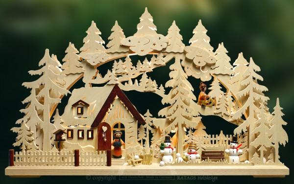 Schwibbogen Winterlandschaft, Weihnachten, echt Erzgebirge