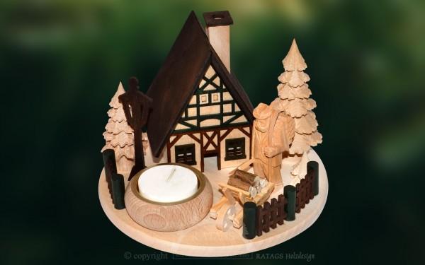 Raeucherhaus Waldmann, Deko, Weihnachten, echt Erzgebirge