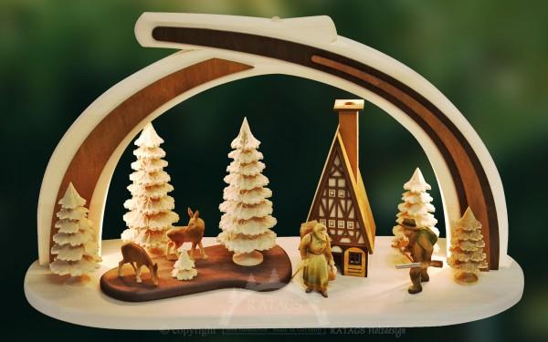 Massivholzbogen Wald, Deko, Weihnachten, echt Erzgebirge