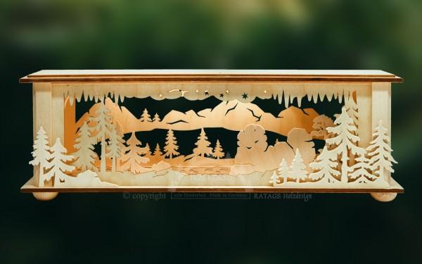 Raumleuchte, Konsole für Tannen, Echt Erzgebirge, Holzkunst