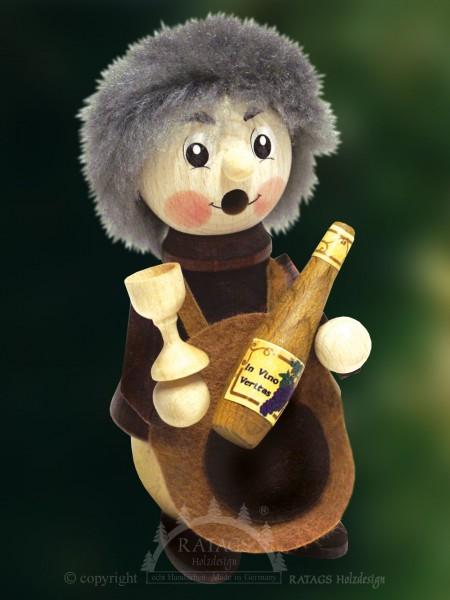 Raeuchermann Winzer mit Flasche, echt Erzgebirge