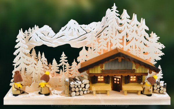 Blockhütte, Apres Ski, Österreich, Winterurlaub, Skipiste