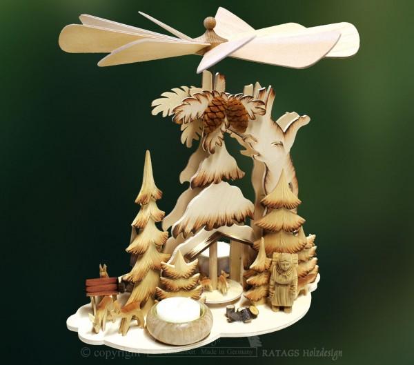 Tannenpyramide Waldleute, Weihnachten, echt Erzgebirge