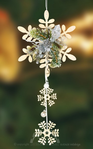 Raumschmuck Eisblume, Deko, Weihnachten, echt Erzgebirge