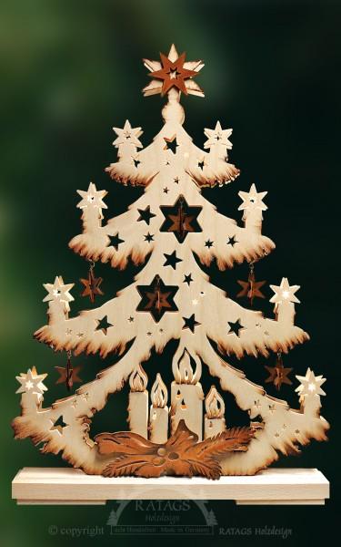 Sternchentanne, Deko, Weihnachten, echt Erzgebirge