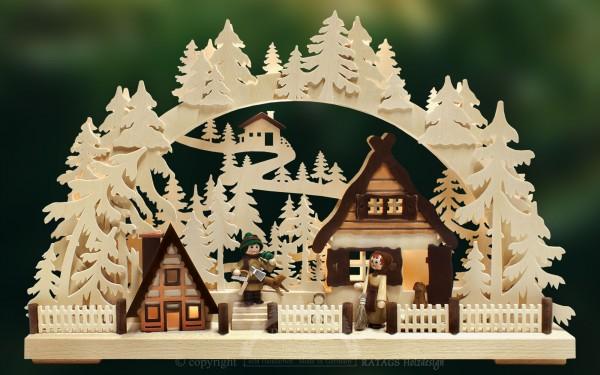 Schwibbogen Weihnachtsvorbereitung, Deko, echt Erzgebirge