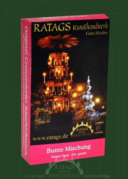 Raeucherkerzen, Mischung, Weihnachten, echt Erzgebirge