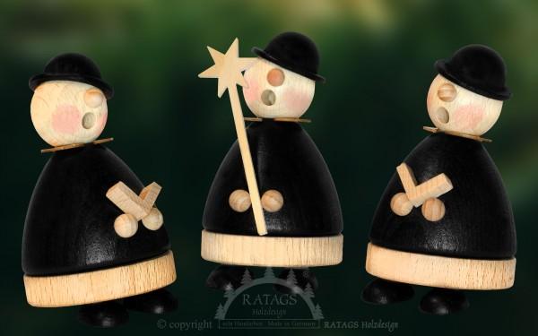 1 Set Raeuchermollis, Weihnachten, echt Erzgebirge