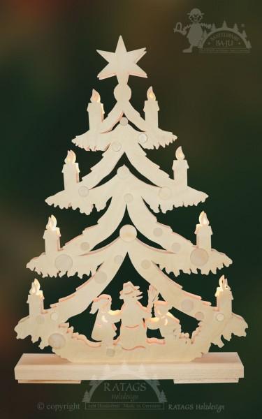 Tanne Schneemannbaum, Deko Weihnachten, echt Erzgebirge