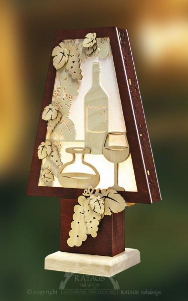 Romantikleuchte, Tischlampe, Wein, Deko, echt Erzgebirge