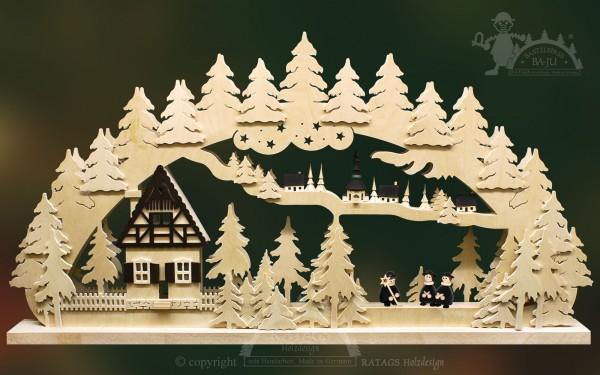 Schwibbogen Dorf Seiffen, Weihnachten, echt Erzgebirge