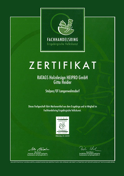 Zertifikat-Fachhandelsring