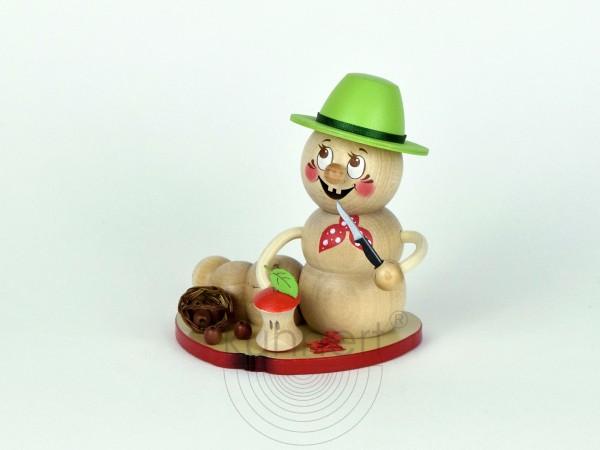 Räucherfigur Apfelwurm Rudi, Größe ca. 14 cm