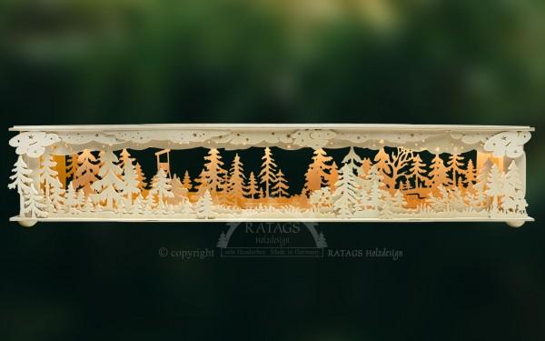 Raumleuchte gr., Wald, Hochsitz