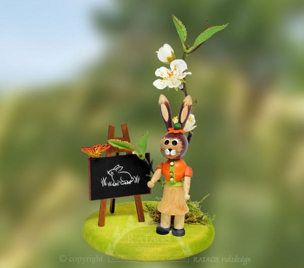Osterhase, Lehrerin mit Tafel, Frühling, Schmetterling