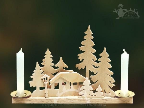 Tischschmuck Haus im Wald, Weihnachten, echt Erzgebirge