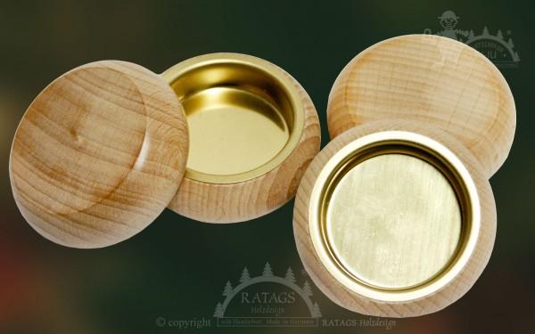 Teelichthalter aus Massivholz, 4er Set