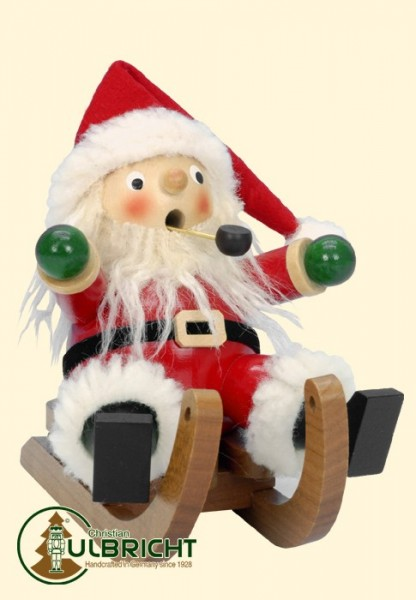 Räuchermann, Weihnachtsmann auf Schlitten