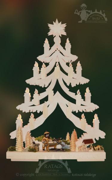 Kerzentanne 3D zum basteln klein, Deko, echt Erzgebirge