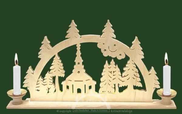 Schwibbogen Seiffener Kirche, Weihnachten, echt Erzgebirge