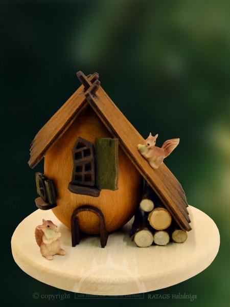 Raeucherhaus Eichhoernchen, Weihnachten, echt Erzgebirge