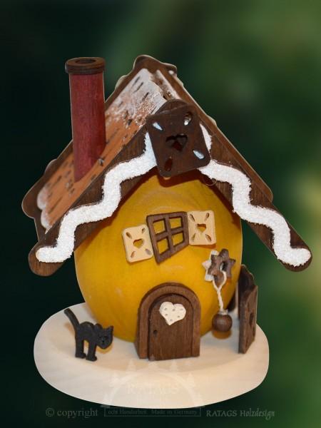 Mini Raeucherhaus, Deko, Weihnachten, echt Erzgebirge